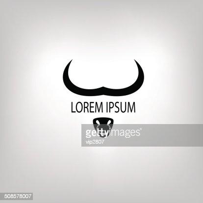 Icône de vache ou de tête de taureau : Clipart vectoriel
