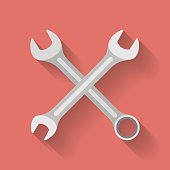 Icon of Wrench. Flat style