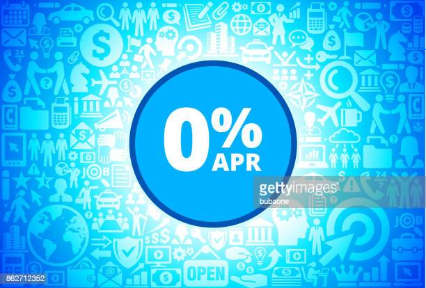 0% APR  Icon on Business and Finance Vector Background