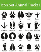 Icon Set Animal Tracks I with 20 icons for the creative use in graphic design