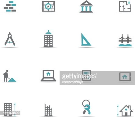Icon set architecture vector art getty images for Architecture icon