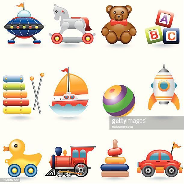 Icona set di giocattoli per bambini