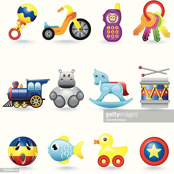 Icon set, Baby Toys