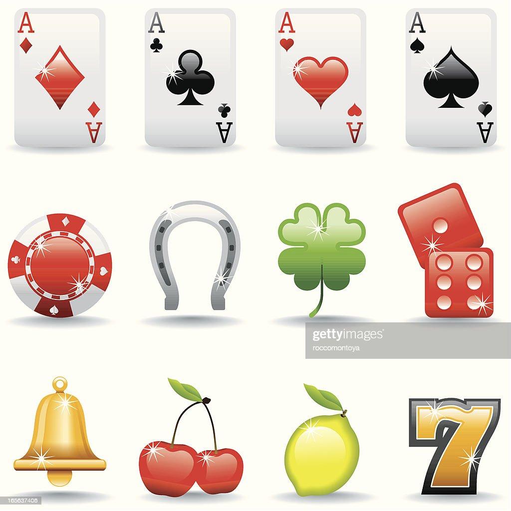 Icon Set, Casino : Vector Art