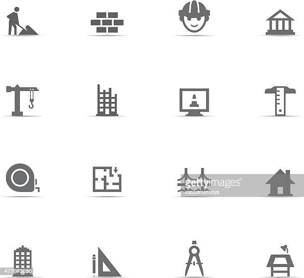 Ensemble d'icônes, des travaux de Construction