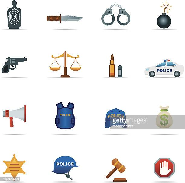 Icon Set, Crime and Police Color