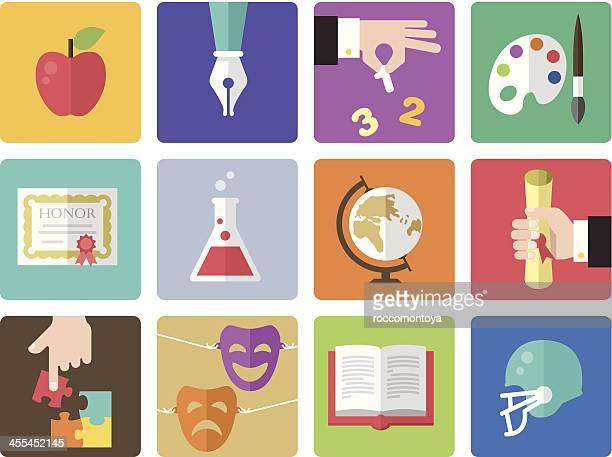 Icon Set, Education Color