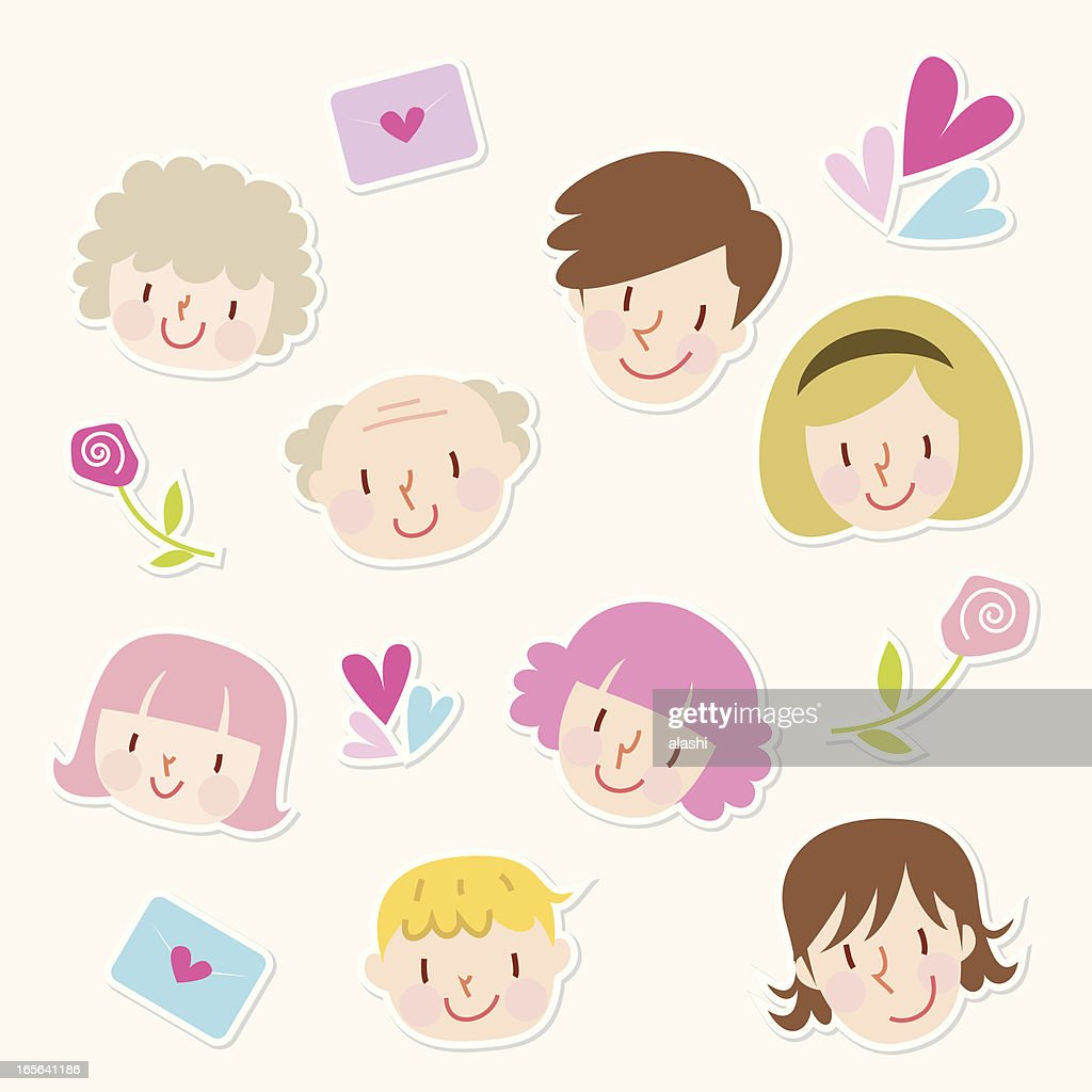 Icon Set Family Love Vector Art | Getty Images