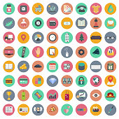 Icon set for websites and mobile applications. Universal set. Flat vector illustration