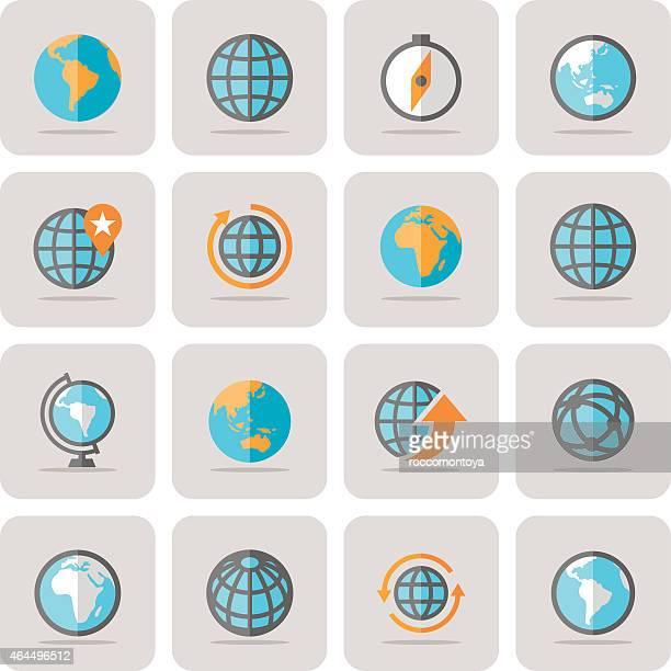 Icon Set, Globe