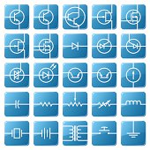 Symbols of electronic components are shown in the picture.