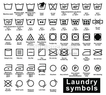 Icon Set Of Laundry Symbols Vector Art Thinkstock