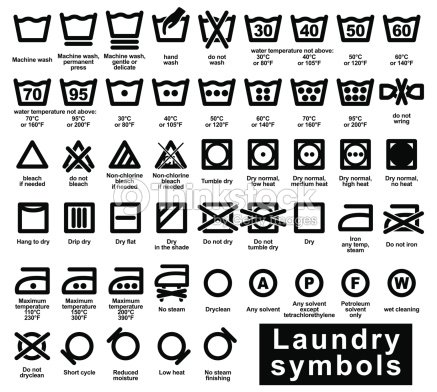 Icon Set Of Laundry Symbols Vector Art