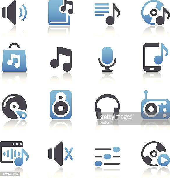 Icon set relating to music and audio