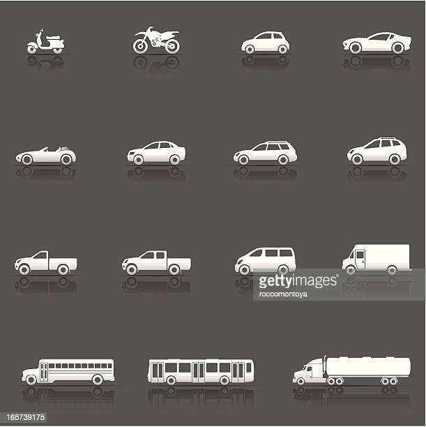Icon-Set, Fahrzeuge und Fahrzeuge