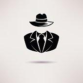 Icon spy, secret agent, the mafia Vector icon