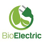 Icon  with the concept of green energy, especially the source of electrical energy