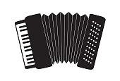 ícone de sanfona, instrumento musical conhecido também por acordeão. utilizado para tocar forró.