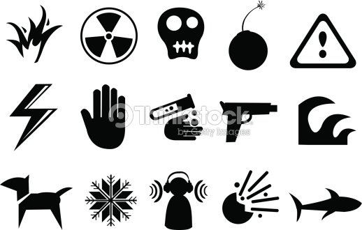 Icons And Symbols For Danger Vector Art Thinkstock