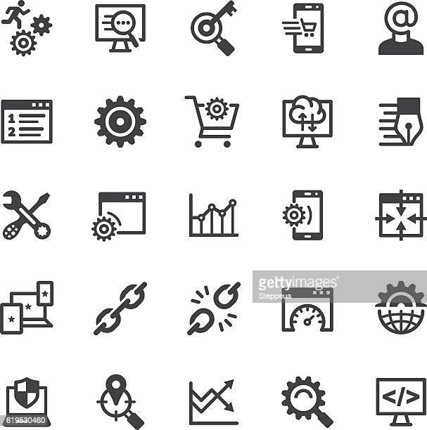 SEO icons - Black series