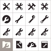 Set of icons of the tool. A vector illustration