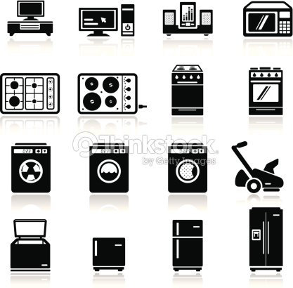 ensemble dic nes de dispositifs maison clipart vectoriel thinkstock. Black Bedroom Furniture Sets. Home Design Ideas