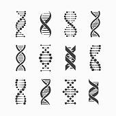 DNA icons set vector illustration, eps10