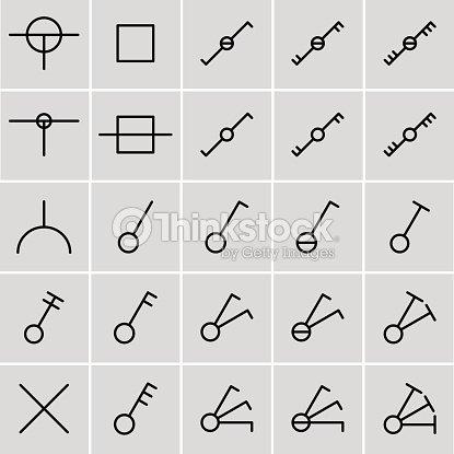 Interruptores de iconos s mbolos el ctricos arte vectorial for Dwg simboli elettrici