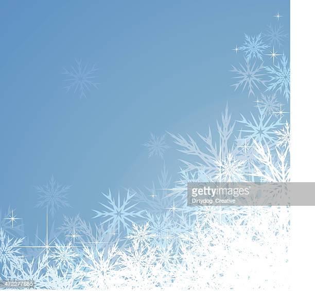 Icy Snowflake Christmas Background