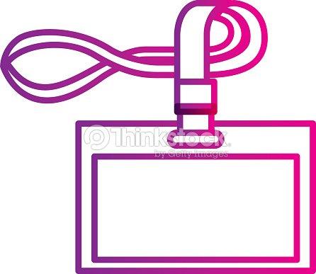 Id Corporate Office Lanyard Branding Template Vector Art Thinkstock - Lanyard template