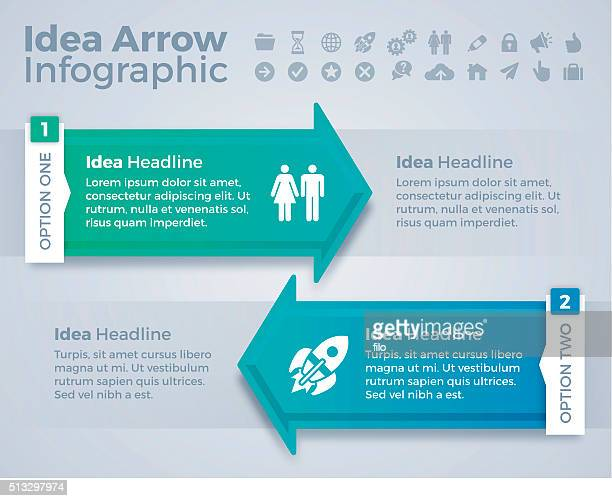 Idea Arrow Convergence Concept