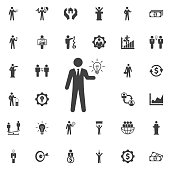 Idea icon. Business icons set