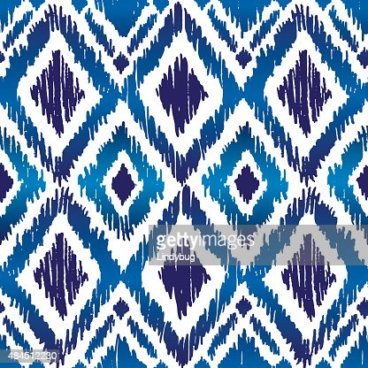 Ikat Ogee Pattern Vect...