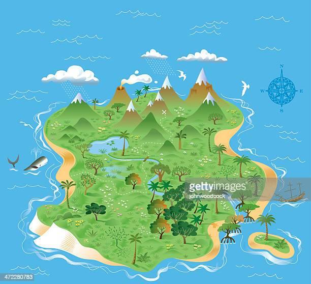 Illustrated treasure island