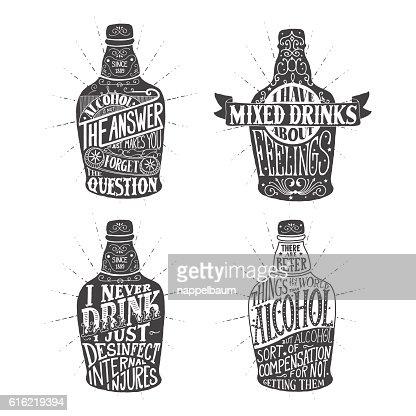 illustration for design of alcohol drink : ベクトルアート
