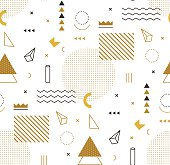 Geometric gold pattern for fashion and wallpaper. style for fashion.