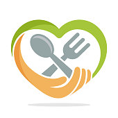 illustration icon with the concept of food donation