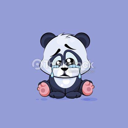 Illustration isol emoji personnage de dessin anim triste - Dessin triste ...