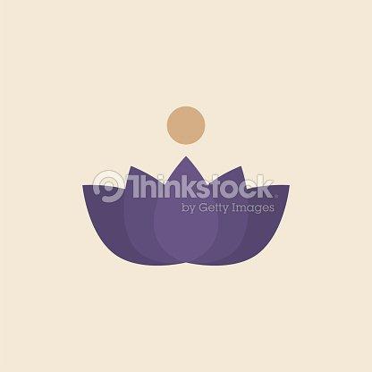 Illustration Of A Lotus Flower Vector Art Thinkstock