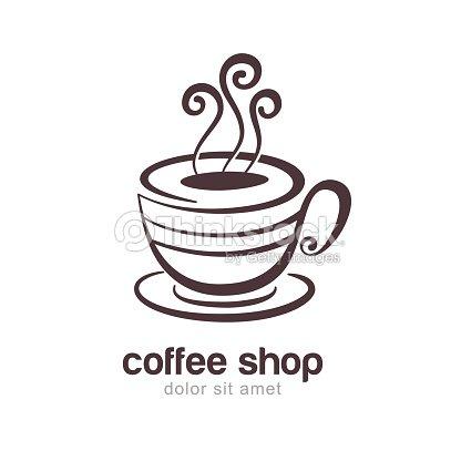 Illustration Von Kaffee Oder Teetasse Vektorlogodesignvorlage ...