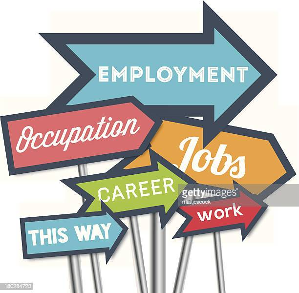 Illustration of employment related signs