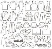Illustration of fashion icon.