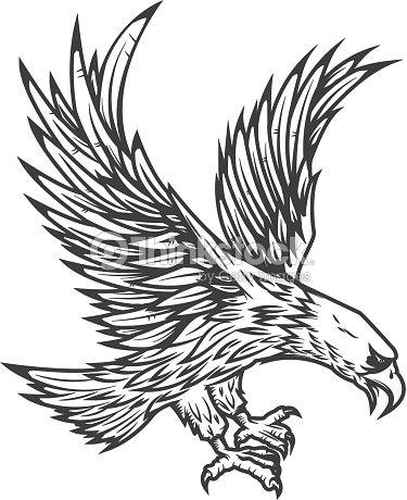 illustration of flying eagle vector art thinkstock