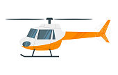 Vector  cartoon style illustration of  helicopter