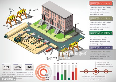 illustration of info graphic house structure concept : Vector Art