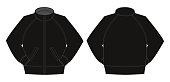 Illustration of jumper / training wear (black)