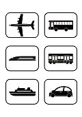 Illustration of public transport(icon)