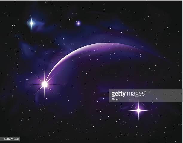 purple planet star comet - photo #8