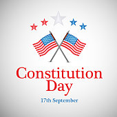 illustration of elements of USA Constitution Day Background