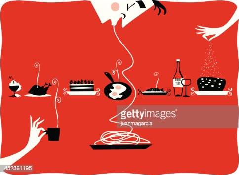 Restaurant Kitchen Illustration illustration of vintage kitchen items restaurant cattering